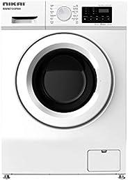 Nikai 7Kg Fully Automatic Front Loading Washing Machine, White - NWM700FN6, 1 Year Warranty