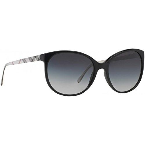 Burberry Unisex BE4146 Sonnenbrille, Gestell: schwarz, Gläser: grau-verlauf 34068G), Medium (Herstellergröße: 55) (Burberry Parfum Männer)