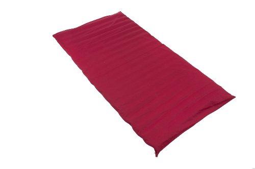Futon Matte 100x200 mit Buchweizenfüllung und Bezug aus roter Baumwolle