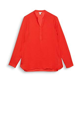 ESPRIT Damen Bluse Rot (Orange Red 635)