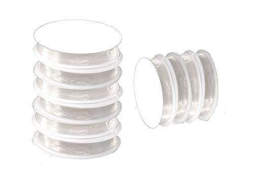 Creative Beads elástico nylon hilo cinta goma, transparente