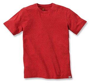 Preisvergleich Produktbild Carhartt Big & Tall Maddock kurzärmeliges T-Shirt Ohne Taschen für Herren,  Chili Heather,  Large