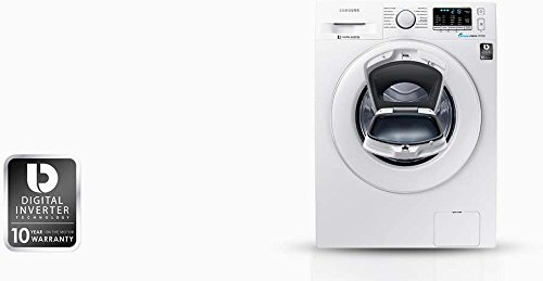 Samsung WW80K5400WW/EG Waschmaschine FL / A+++ / 116 kWh/Jahr / 1400 UpM / 8 kg / Weiß / Add Wash / Smart Check / Digital Inverter Motor