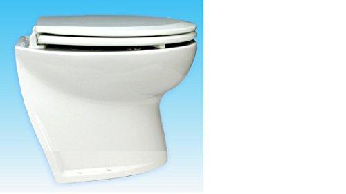 58060Dämmerungsschalter–1012betriebenen Jabsco Deluxe Flush 12V DC Elektrische WC-abgewinkelt Rückseite mit Magnetventil Frisches Wasser spülen, 35,6cm (Elektrische Flush Toilette)