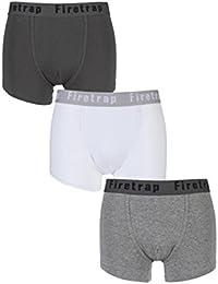 Firetrap Mens 3 Pack Plain Boxer Shorts