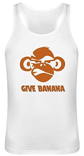 Gib Banane - Give Banana Tank Top T-Shirt Jersey for Men & Women 100% Soft Cotton Unisex Clothing X-Large -