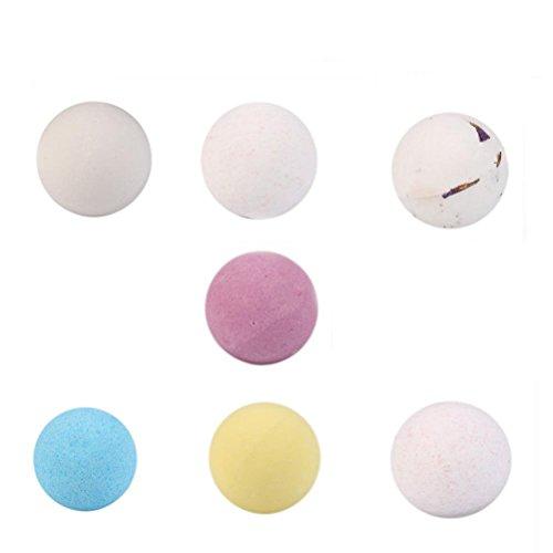 MuSheng(TM) Bath Bombs Ball Natural Sea Salt Lavande Bulle Gommage corporel essentiel Relaxation et hydratation Apaiser la peau sèche