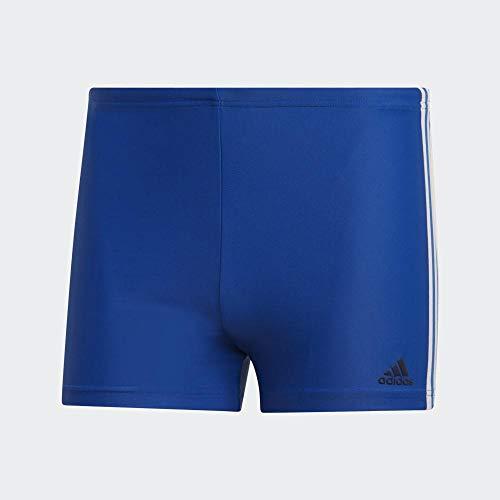 adidas Herren Fit 3-Streifen Boxer Badehose, Collegiate Royal/White, 6