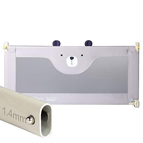Zx- binario del letto per il bambino, parapetto pieghevole portatile letto singolo guardia di sicurezza guardia di protezione per bambini e neonati (colore : gray-150cm)
