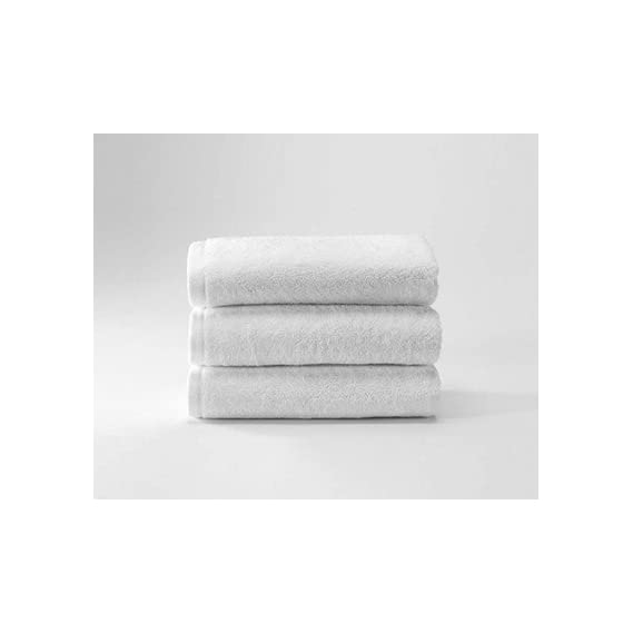 Fresh From Loom Cotton Towel for Face, Spa, Beauty Parlour (White)
