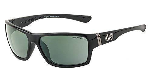 Dirty Dog Wrap Storm Sonnenbrille in Schwarz mit Grün Polarisiert Objektiv (53346)
