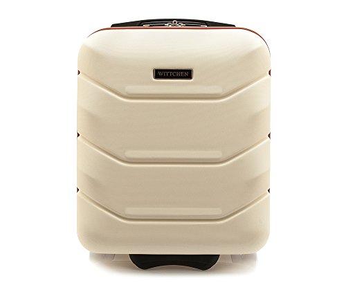 WITTCHEN Trolley Bagaglio a mano - Valigia rigida | Colore: Bianco | Materiale: ABS | Dimensioni: 25x42x32 | Peso: 2 kg | Capacità: 25 L | 2 ruote - 56-3A-281-88