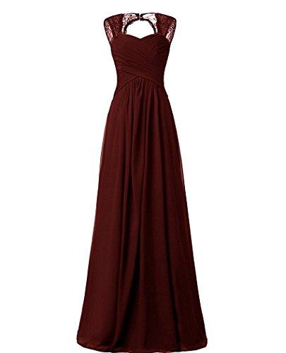 Beonddress Damen Chiffon Brautjungfernkleider Ballkleid Abendkleider Lang Hochzeitskleid Cocktail...