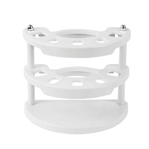 Lantelme Zahnbürstenhalter für Handzahnbürsten Kunststoff weiß Zahnbürsten Zahnpasta Halter 2481