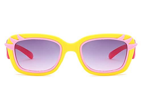Daesar Sonnenbrille UV Schutz Gelb Rot mit Harz Linse Damen Retro Sonnenbrille