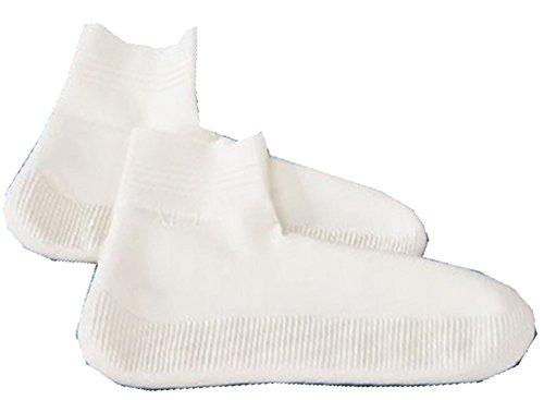Aqua Safe Chaussettes de piscine de bain en latex Protection contre les verrues et les infections des pieds S (31-34) blanc