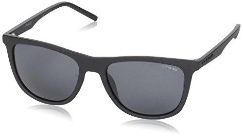 Polaroid pld 2049/s m9, occhiali da sole uomo, matt black, 55