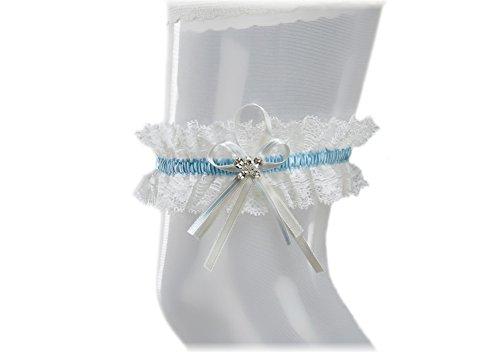 AVORIO BIANCO Dono di damigella donore per la sposa- Pizzo Morbido Elastico Giarrettiera Sposa con cristalli scintillanti a forma di farfalla- Giarrettiera nuziale Giarrettiera Matrimonio BLU