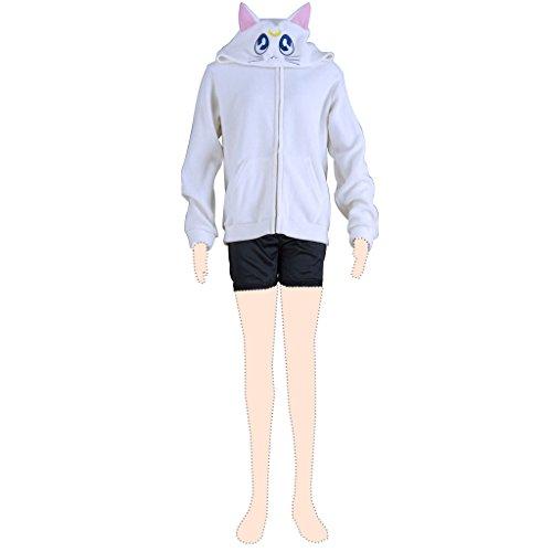 Sailor Moon Artemis Polar fleece coat (Sailor Moon Artemis Kostüm)
