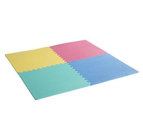 Homcom tappeto puzzle 24 pezzi in eva per bambini, 610 x 610 x 10 mm