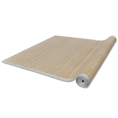 VidaXL Alfombra de bambú Natural Cuadrada