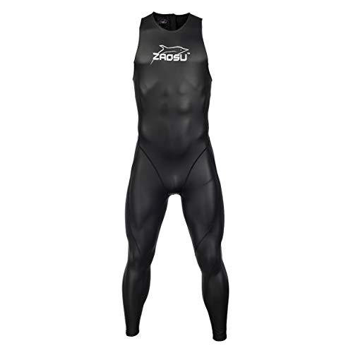 ZAOSU Damen und Herren Speedsuit | Triathlonanzug lang ohne Ärmel, Größe:XL -