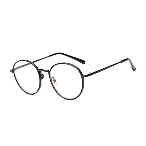 Siwen Neue Frauen runde Sonnenbrille männer lila getönte/klare linse brillengestell,Schwarz klar