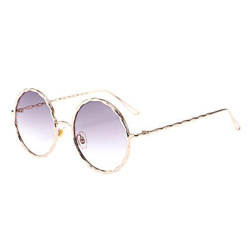 YWLINK Herren Damen Vintage Runde Sonnenbrillen Retro Farbverlauf Strand Urlaub StraßE Eyewear Mode