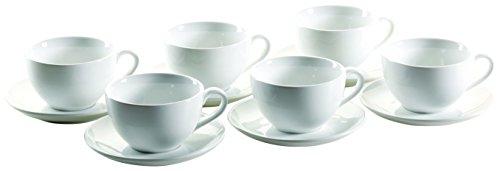 Mäser, Serie Colombia, Michkaffee-Obere 34 cl, mit Milchkaffee-Untere 16 cm, Porzellan Geschirr-Set...
