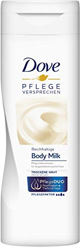 Dove Body Milk Reichhaltige Pflege, Body Lotion, 6er Pack (6 x 400 ml)