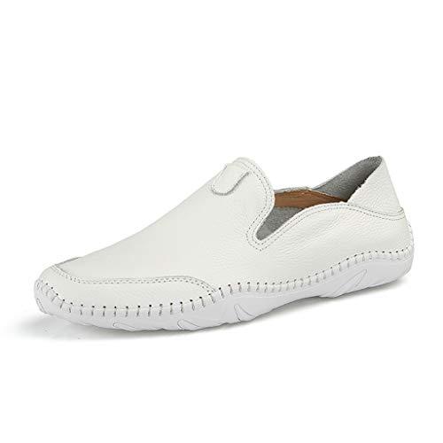 Herren moderne klassische Schnürschuhe atmungsaktiv Leder gefüttert perforiert flache Schuhe -