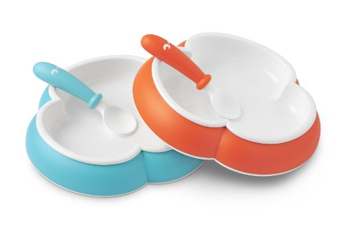 babybjrn-baby-plate-and-spoon-2-pack-orange-turquoise