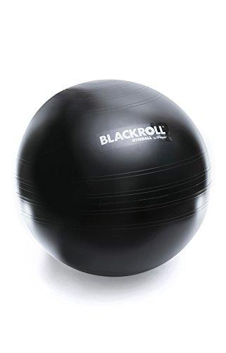 BLACKROLL GYMBALL - das Original. Trainigs- und Sitzgerät in Einem Gymnastikball/Sitzball in schwarz