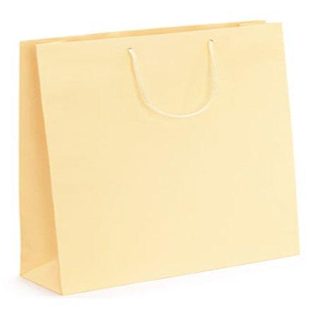 THALI Outlet Leeds-5Creme EX großen Luxus-matt Seil Griff Papier Staubbeutel-Größe: 500x 420x 130mm