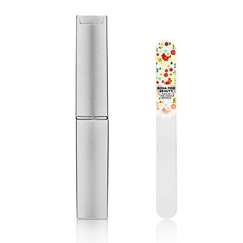 Bona Fide Beauty Glas-Nagelfeilen für Babys, 2 Stück,Kristall-Nagelfeilen-Set,Nagelfeilen aus Glas mit doppelseitiger Oberfläche und abgerundeter Spitze
