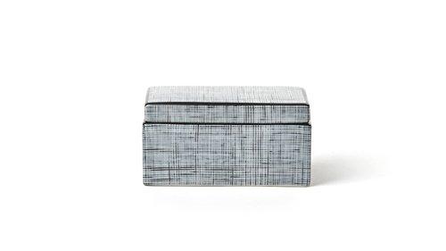 IVARY TARTAN Box 12x7x6 cm rechteckig schwarz/weiß -