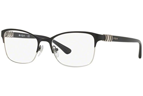 VOGUE Optical Frames Frame BLACK/SILVER WITH DEMO LENS