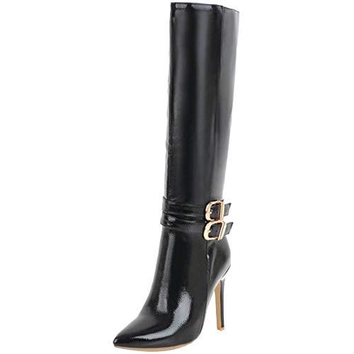 RAZAMAZA Femmes Mode Boots Talon Aiguille au-Dessus du...