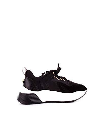 Cesare Paciotti 4Us Damen Tthd2tcanero Schwarz Leder Sneakers