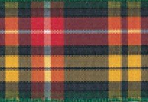 Schleifenband aus Polyester mit Tartan-Muster, 25 m x 16 mm, buchanan 5 -