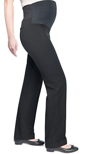 Christoff Femmes Coupe Straight-leg Stretch Pantalon De Grossesse Style D'affaires Gris (Anthracite)