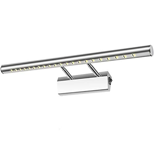 Glighone Aplique Baño Luz de Espejo 21 LED 5W 40cm Lámpara Moderno Iluminación para Maquillaje contra...