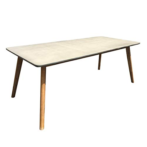 OUTLIV. Gartentisch Ellie Gartentisch 200x90cm Akazie/Zementgemisch Outdoor Tisch