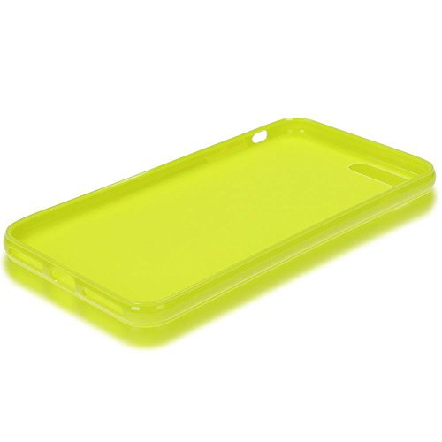 iPhone 8 Plus / 7 Plus Hülle Handyhülle von NICA, Ultra-Slim TPU Silikon Jelly Case, Dünner Gummi Schutz Skin, Etui Handy-Tasche Back-Cover Bumper für Apple i-Phone 7 Plus / 8 Plus - Neon Grün Gelb Neon Grün Gelb