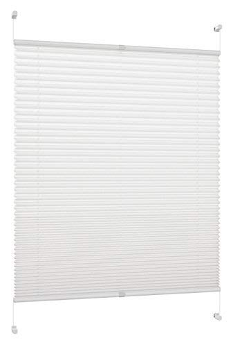 DecoProfi Plissee, Stoff, Weiß, 65 cm x 220 cm