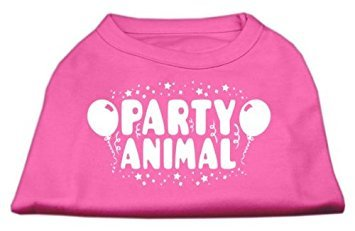 Mirage Pet Products Party Animal Screen Print-Shirt Bright Pink XXXL (20) -