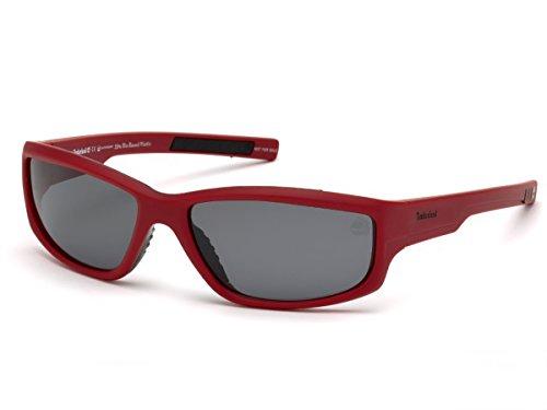 Timberland Unisex-Erwachsene Brillengestelle TB9154 67D 62, Rot (Rosso Opaco\\Fumo Polar)