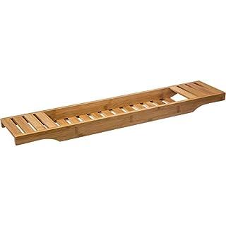 AC-Déco Badewannentablett aus Bambus, 70 x 15 x 4,5 cm