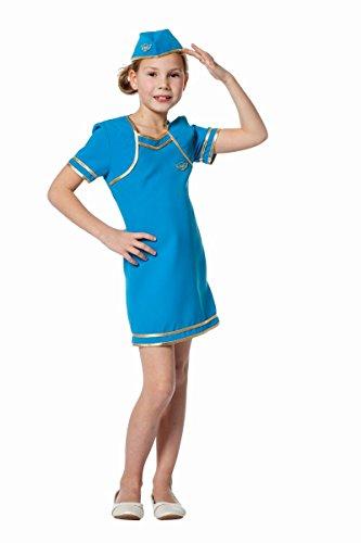 Kinder Kostüm Flugbegleiterin Stewardess Karneval Fasching (Kind Stewardess Kostüm)