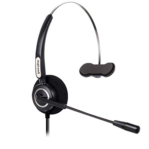 Office Monaural Headset with Microphone RJ9 Plug Only for Cisco IP Phones 7940 7960 7970 6900 Series and 8811,8841,8851,8861,8941,8945,8961,9951,9971 etc 8945 Serie